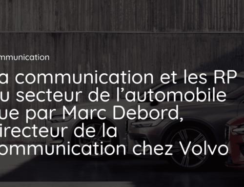 La communication et les RP du secteur de l'automobile vue par Marc Debord